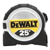 Dewalt DWHT33385L Measuring Tape, 1-1/4 In x 25 ft, Ylw/Blk