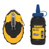 Dewalt DWHT47143 Chalk Line Reel, 100 ft, ABS, w/Blue Chalk