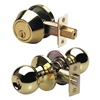 Master Lock BAC0603 Knob Lockset, LD, Entry, Brass