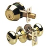 Master Lock BCCO0603 Knob Lockset, LD, Entry, Brass