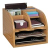 Safco 9425MO Desktop Organizer, Medium Oak
