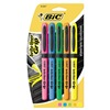Bic BICGBLP51ASST Highlighter Set, Flourescent, Rubber, 5 Pc
