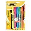 Bic BICBLRP51ASST Highlighter Set, Retractable, 5 Pc
