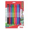 Pentel PENBK93CRBP8M Ballpoint Pen, Med, Assorted, Pk 8