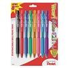 Pentel PENBK440BP8M Ballpoint Pen, Med, Assorted, Pk 8