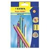 Dixon DIX3721122 Woodcase Pencil, 6.3mm, Assorted, Pk 12