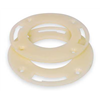 Harvey 2WY61 Toilet Flange, Spacer Ring, 4 In PVC, PK 2