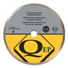 Qep 6-7003CR Tile Saw Bld, Wet/Dry, Cntnus Rim, 7 In Dia