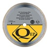 Qep 6-1003CR Tile Saw Bld, Wet/Dry, Cntnus Rim, 10 In Di