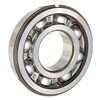 Skf 6200 NR Radial Bearing, Open, Snap Ring, Dia. 10mm