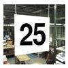 Stranco Inc HPS-FS1212-25 Hanging Aisle Sign, Legend 25