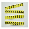 Approved Vendor 23Y091 6In Vinyl SelfAdhesive Block NumberSet