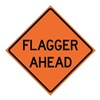 Usa-Sign 669-C/36-MFO-FA Traffic Sign, Flagger Ahead, H 36 In.