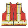 Viking 4915R-XL Hi Vis Surveyor Vest, Class 2, XL, Red