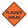 Usa-Sign 669-C/48-MFO-FA 48 FLAGGER AHEAD  Marathon
