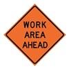 Usa-Sign 669-C/48-SBFO-WA 48in WORK AREA AHEAD SuperBrite