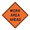 Usa-Sign 669-C/48-DGFO-WA Traffic Sign, Work Area Ahead, H 48 In.