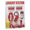 Brady 99699 Lockout Station, Elctrical/Valve, 12 Locks