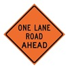 Usa-Sign 669-C/48-SBFO-OR 48in ONE LANE ROAD AHEAD SuperBrite