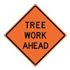Usa-Sign 669-C/48-EMO-TA 48in TREE WORK AHEAD Mesh