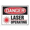 Accuform Signs MRAD022VA Danger Radiation Sign, 10 x 14In, AL, ENG