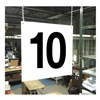 Stranco Inc HPS-FS1212-10 Hanging Aisle Sign, Legend 10