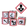Ghs Safety GHS1262 Pictogram Label, Black/Red, Glossy Paper