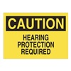 Approved Vendor 15J018 Sign, 10X14, Caution Hearing Protection, S.