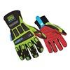 Ringers Gloves 266-10 Glove, Impact Resistant, L, Hi-Vis, Pr