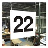 Stranco Inc HPS-FS1212-22 Hanging Aisle Sign, Legend 22