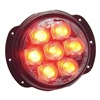 Nova L36R Warning Light, LED, Red, Round, 4-1/2 In Dia