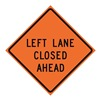 Usa-Sign 669-C/48-SBFO-LL Traffic Sign, Left Lane Closed, H 48 In.