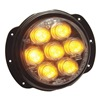 Nova L36A Warning Light, LED, Amber, Round, 4-1/2 Dia
