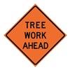 Usa-Sign 669-C/36-EMO-TA 36in TREE WORK AHEAD Mesh