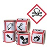 Ghs Safety GHS1264 Pictogram Label, Black/Red, Glossy Paper