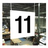 Stranco Inc HPS-FS1212-11 Hanging Aisle Sign, Legend 11