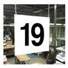 Stranco Inc HPS-FS1212-19 Hanging Aisle Sign, Legend 19