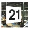 Stranco Inc HPS-FS1212-21 Hanging Aisle Sign, Legend 21