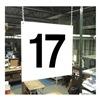 Stranco Inc HPS-FS1212-17 Hanging Aisle Sign, Legend 17