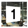 Stranco Inc HPS-FS1212-1 Hanging Aisle Sign, Legend 1
