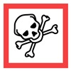 Ghs Safety GHS1273 Pictogram Sign, Black/Red, Vinyl