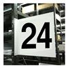 Stranco Inc HPS-2W1412-24 Projecting Aisle Sign, Legend 24