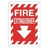 Approved Vendor 15J039 Sign, 14X10, Fire Extinguisher, Plastic