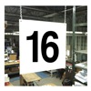 Stranco Inc HPS-FS1212-16 Hanging Aisle Sign, Legend 16