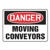 Accuform Signs MECN001VA Danger Sign, 10 x 14In, R and BK/WHT, AL