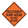 Usa-Sign 669-C/48-EMO-BA Traffic Sign, Presc. Burn Ahead, 48 In.