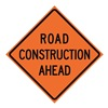 Usa-Sign 669-C/48-SBFO-RA Traffic Sign, Road Construction, H 48 In.
