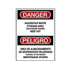 Brady 38605 Danger Sign, 14 x 10In, R and BK/WHT, Text