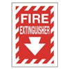 Approved Vendor 15J040 Sign, 14X10, Fire Extinguisher, S.