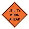 Usa-Sign 669-C/36-MFO-UW 36in UTILITY WORK AHEAD Marathon